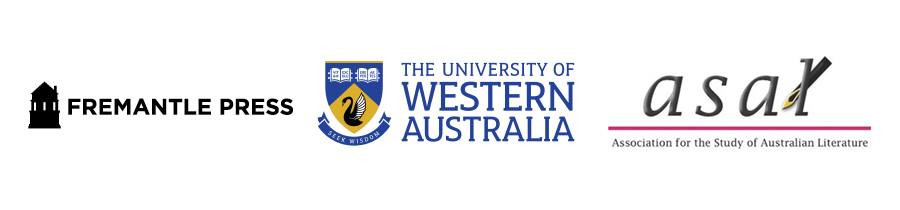 Fremantle Press, The University of Western Australia and the Assoication for the Study of Australian Literature logos