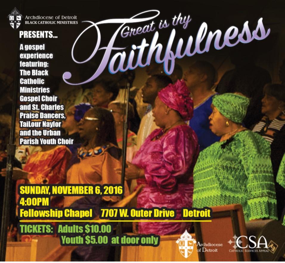Great Is Thy Faithfulness Flyer