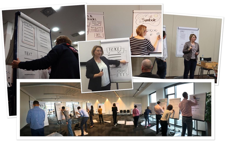 Bilder Einblick Flipchartprofi Seminar