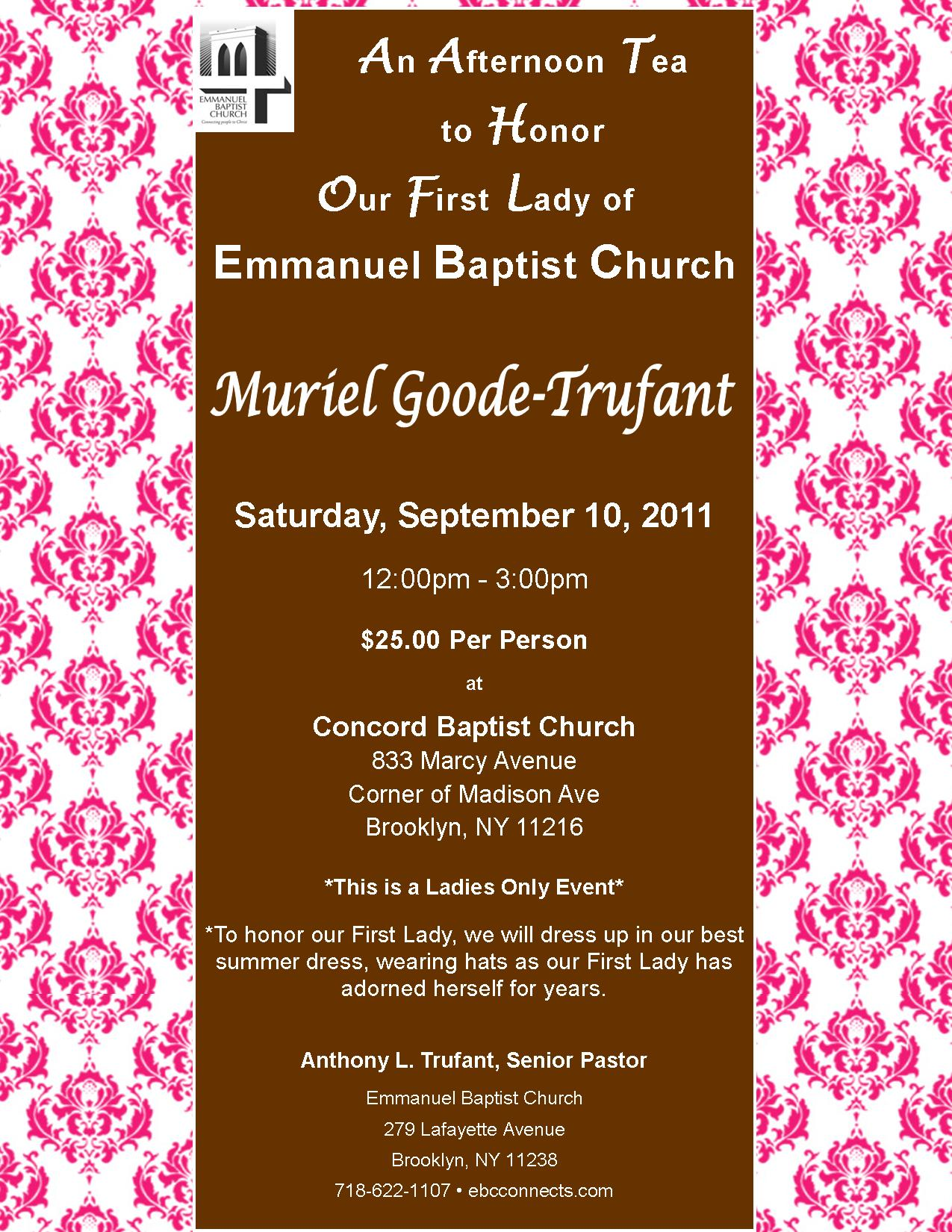 and Honor Muriel Goode-Trufant - First Lady of Emmanuel Baptist Church ...