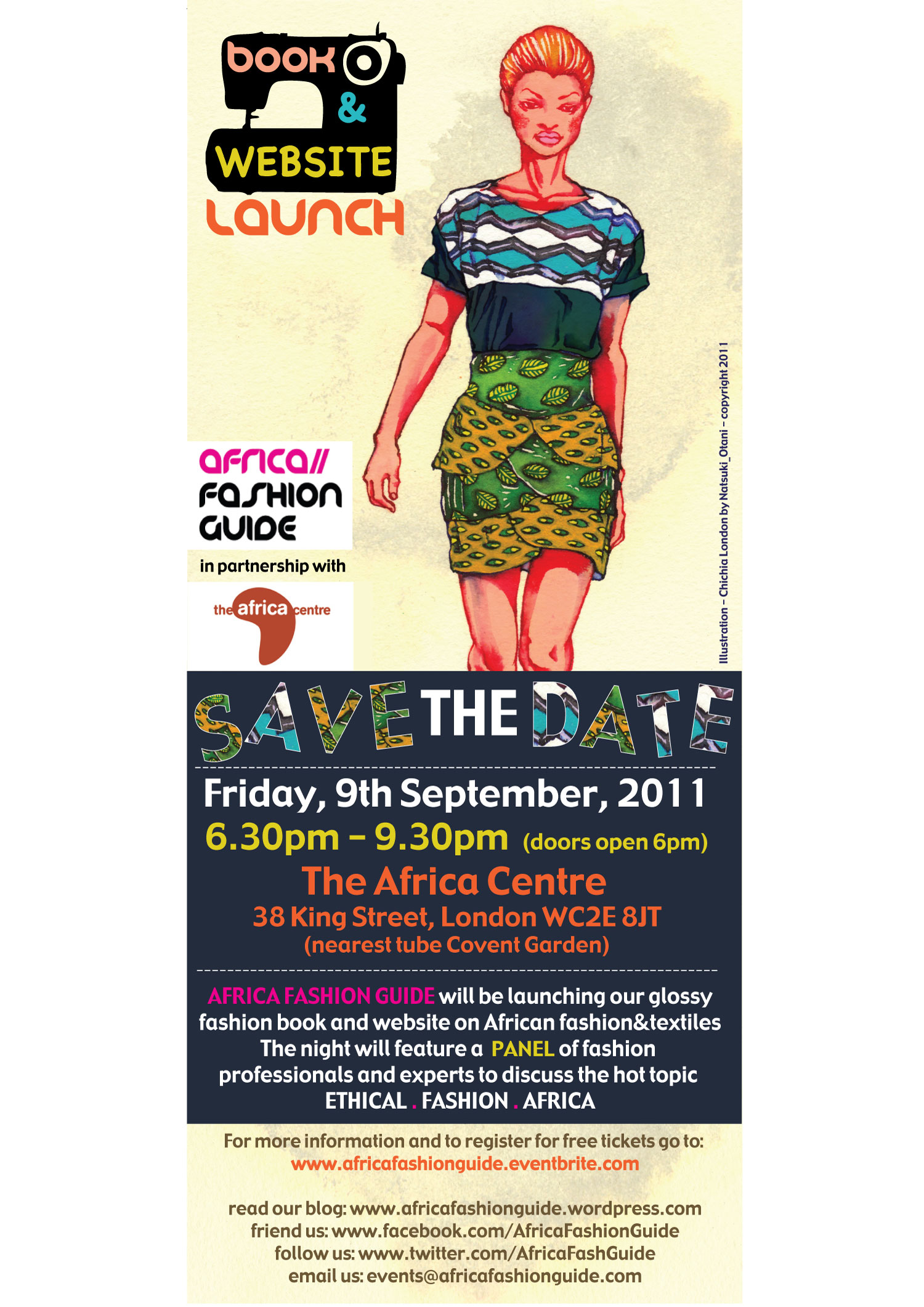 AfricaFashionGuide Launch flyer