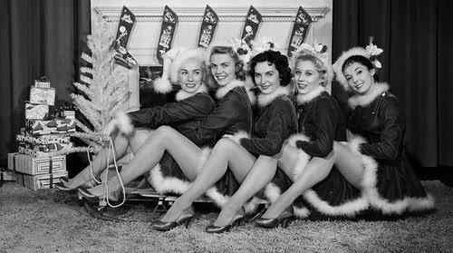 Retro Christmas Ladies!