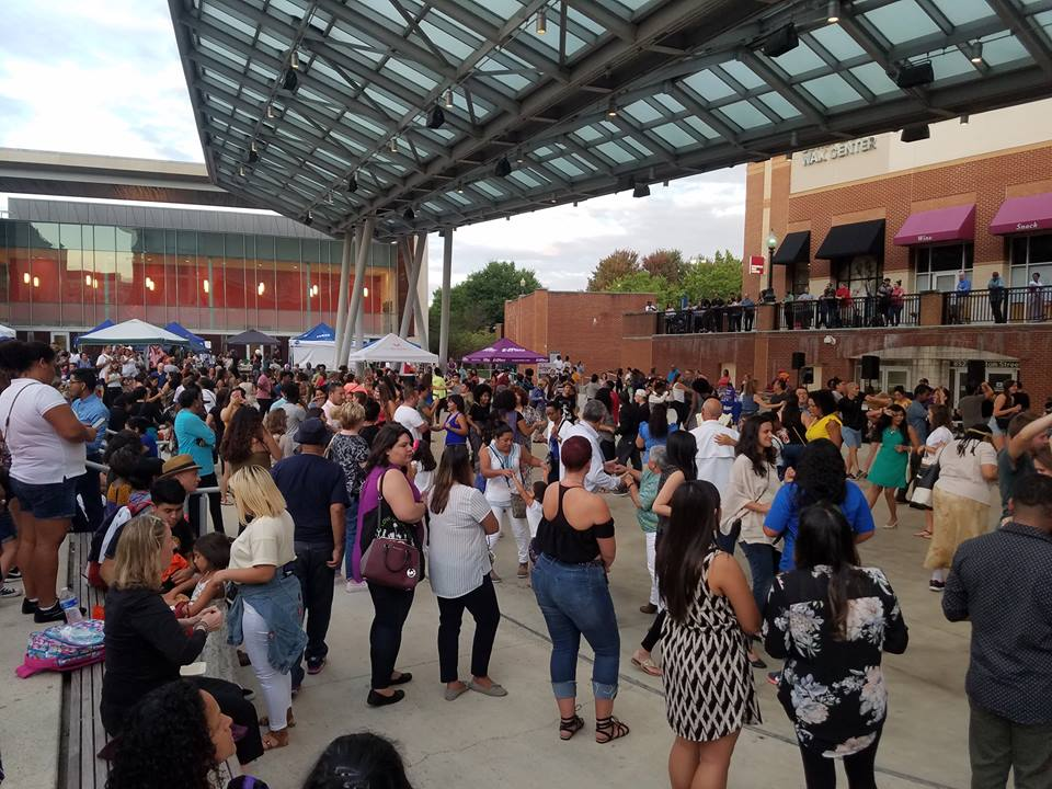 the popular Silver Spring, MD Salsa and Bachata Block Party