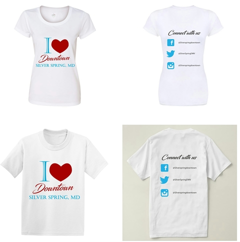 Buy I love Downtown Silver Spring, MD shirts