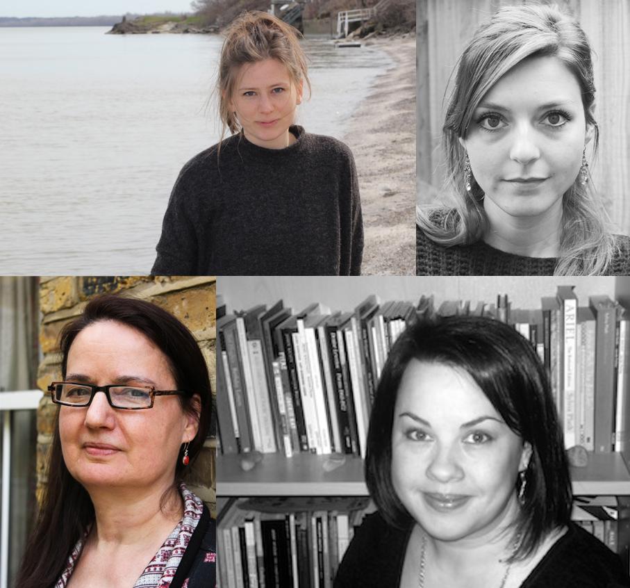 Left to right: Eve Lacey, Rebecca Watts, Jo Shapcott, Kaddy Benyon