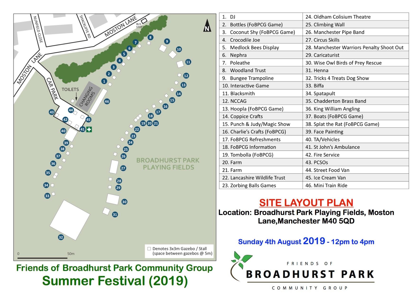 Festival Site Plan