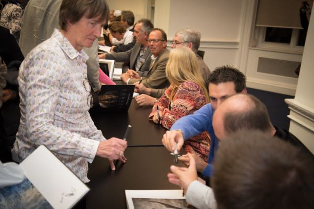 Book signing at last year's Remembering Rhinos event