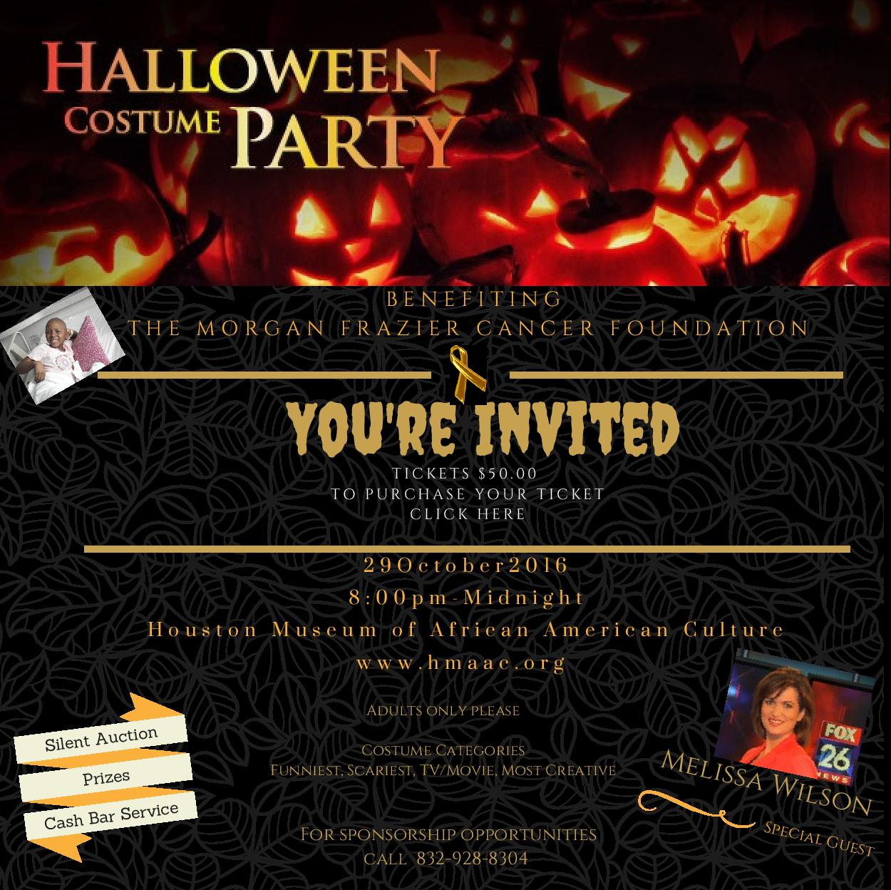 1st Annual MFCF Halloween Costume Party Fundraiser Tickets, Sat ...