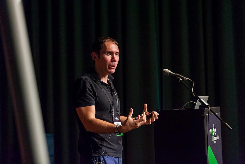 Azat Mardan speaking at Node Interactive Europe 2016