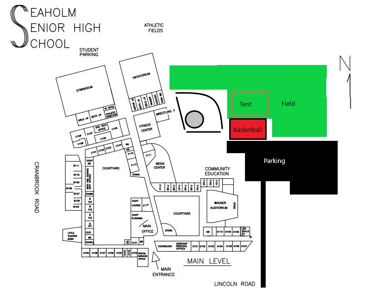 Seaholm High School Map Showing Picnic Area