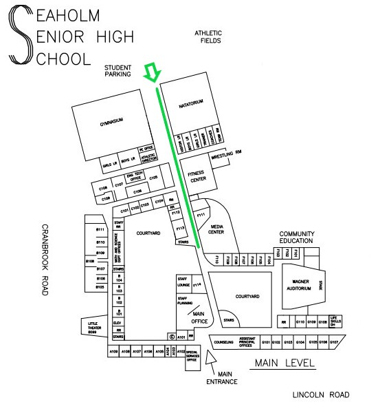 Seaholm Map to Media Center