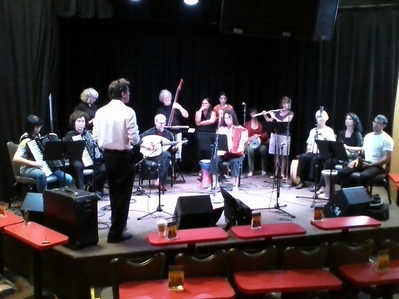 2014 Ensemble rehearsing onstage at Kuumbwa Jazz