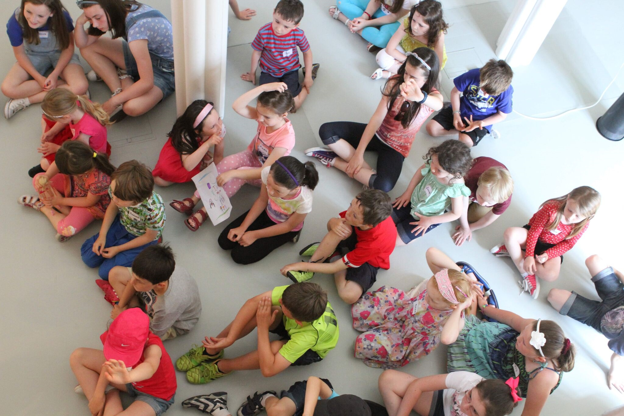 Children's Workshop in motion at the gallery