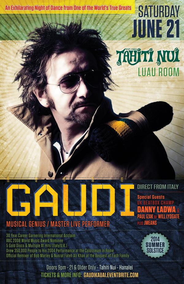 Gaudi Poster - Kauai 2014