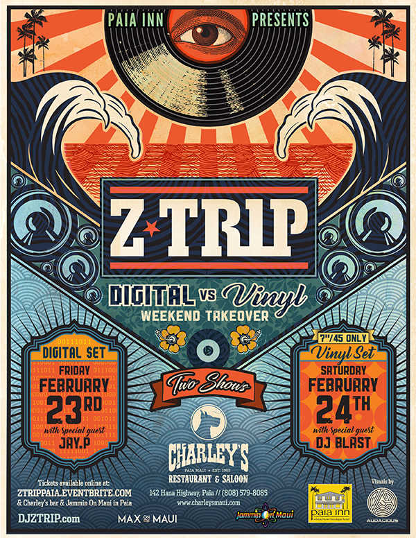 Z-Trip Weekend Takeover at Charleys Maui