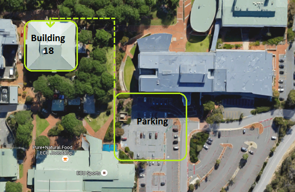 ECU Joondalup parking and building location