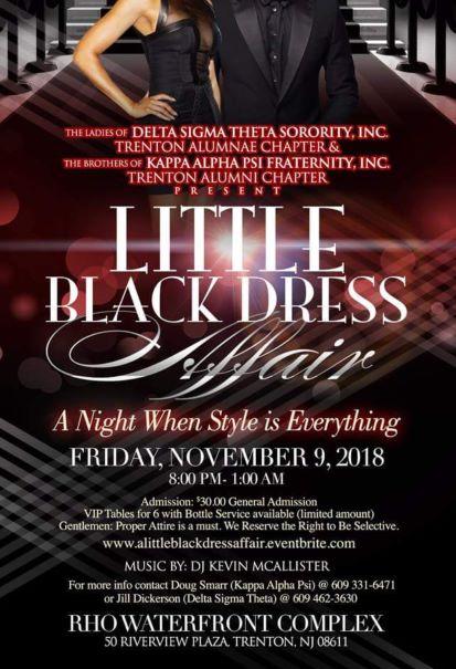 Little Black Dress Affair Flyer