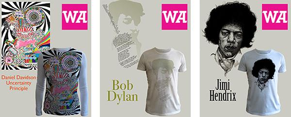 WeAdmire T-Shirts Bob Dylan Jimi Hendrix
