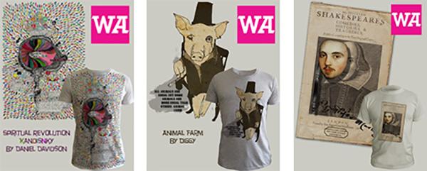 WeAdmire T-Shirts Animal Farm, Kandinsky and Shakespeare. Copyright WeAdmire 2007-2016