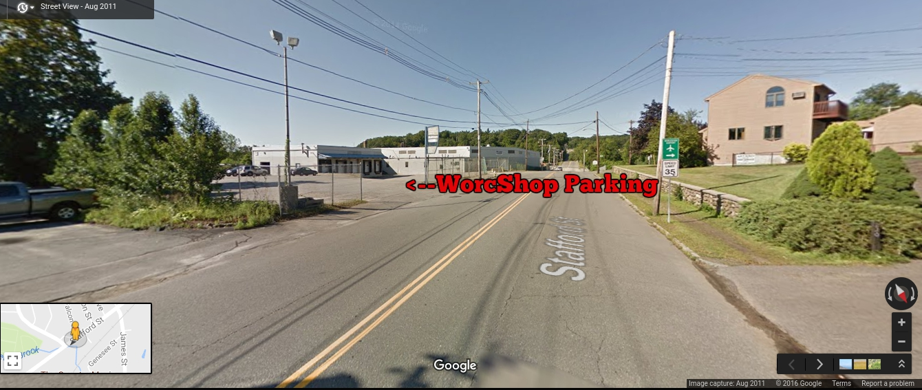Picture of WorcShop parking entrance (233 Stafford)