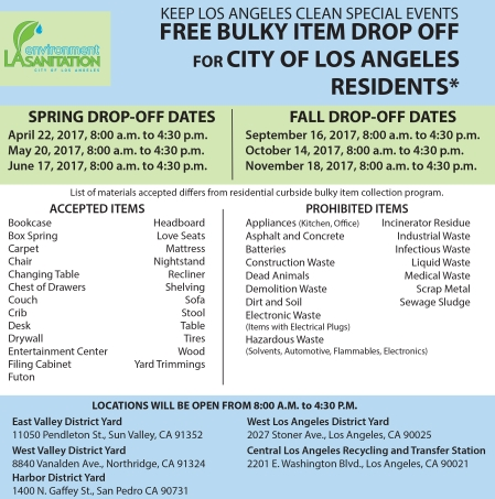 FREE bulky item drop-off events