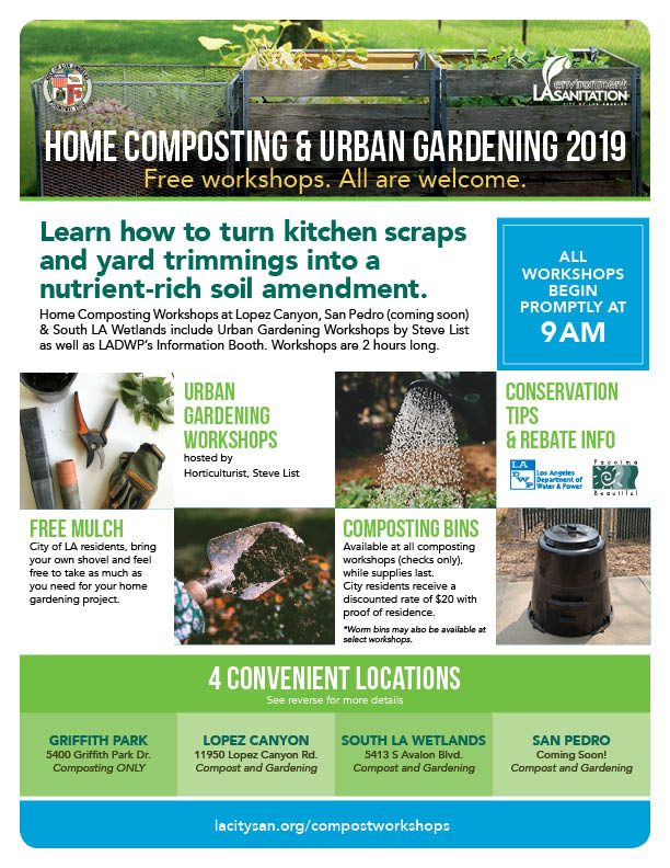 LASAN 2019 Home Composting Workshop Flyer - front