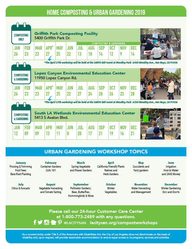 LASAN 2019 Home Composting Workshop Flyer - back