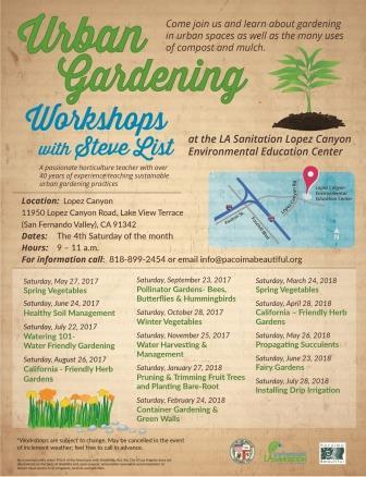 Urban Gardening Flyer