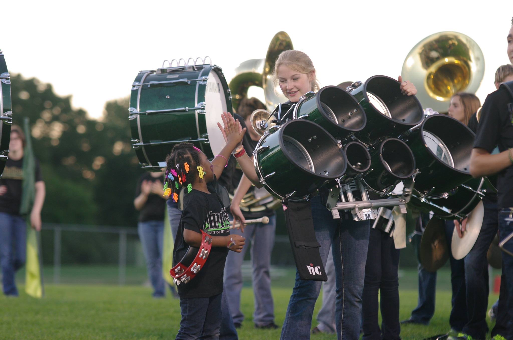 Marching band participants shine as stars on the field too!