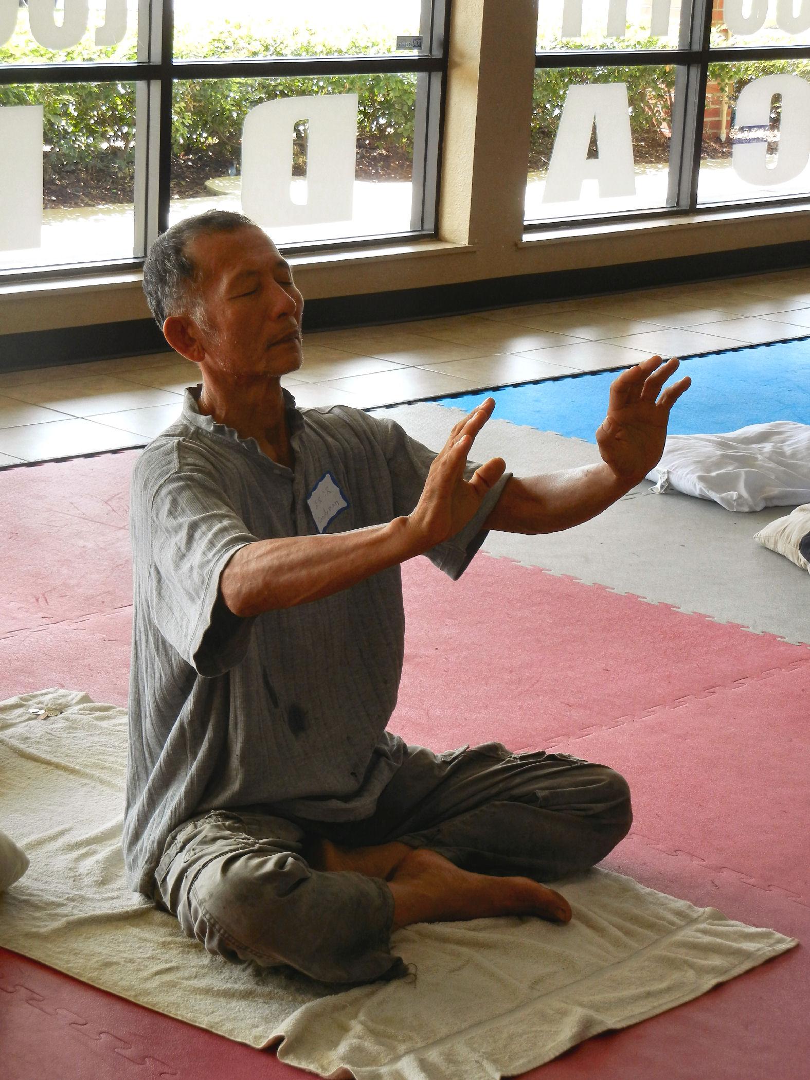 Masaji beaming AUMAKHUA-KI (tm) Energy
