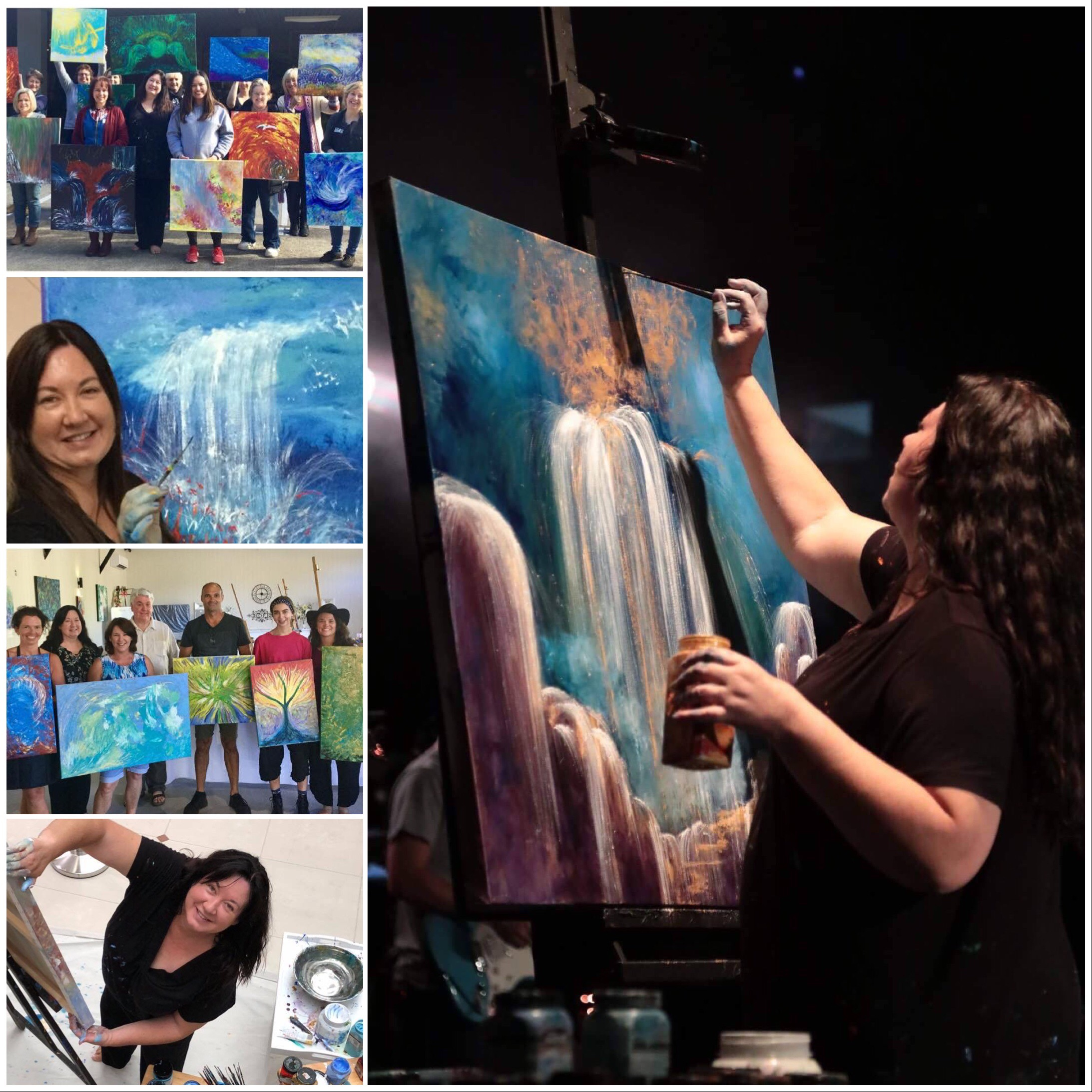 Wendy collage live painting and workshops