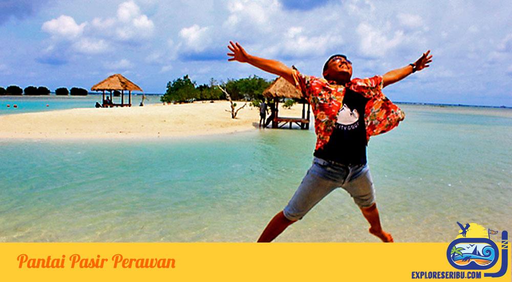 Pasir Perawan di Wisata Pulau Pari