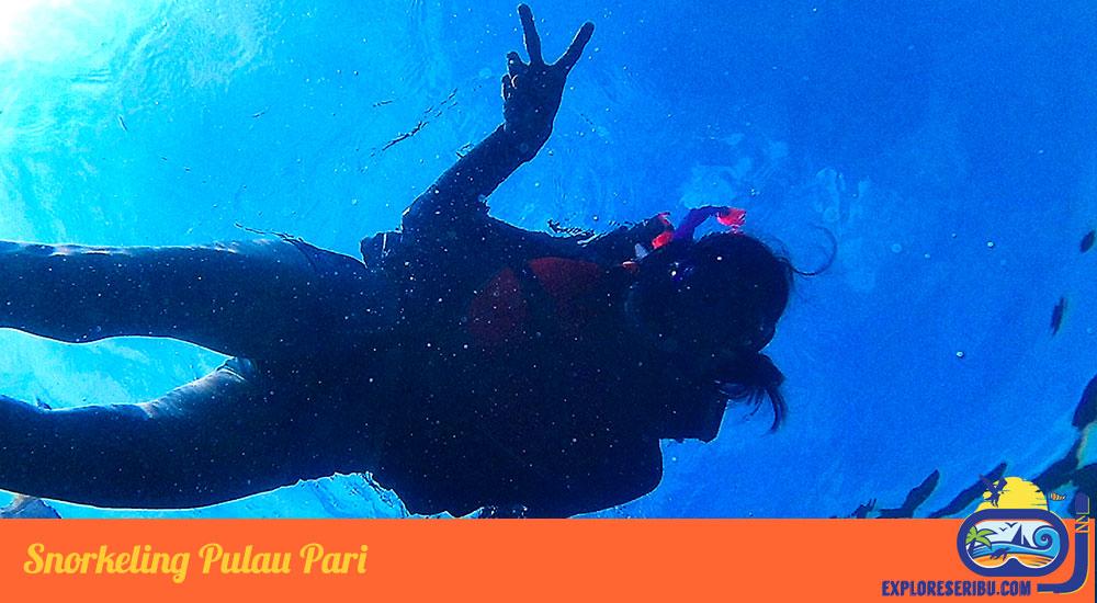 Snorkeling di wisata pulau pari