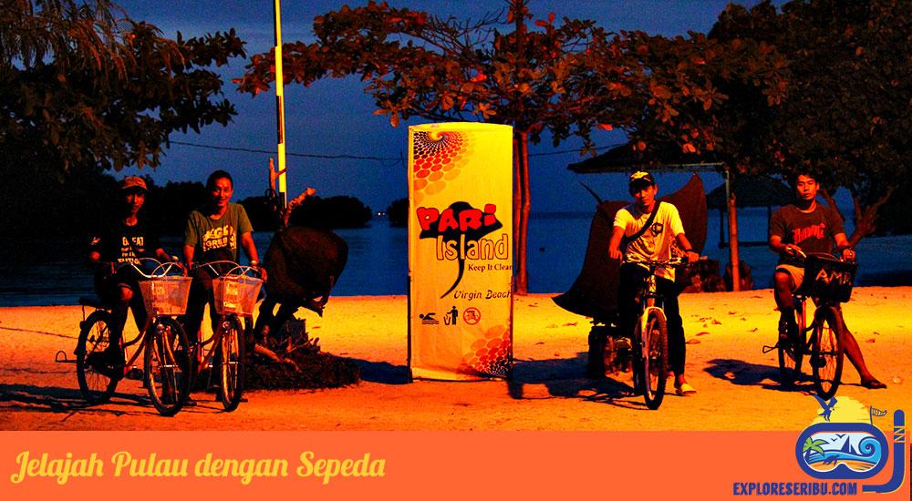Keliling Pulau Pari dengan Sepeda