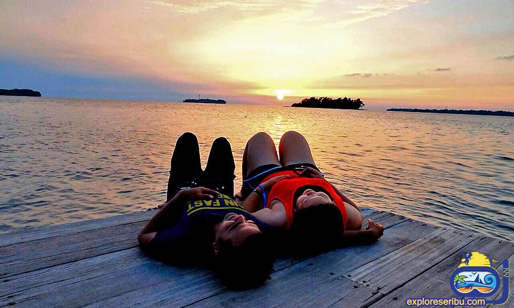 Sunset Pulau Kelapa di Kepulauan Seribu Jakarta