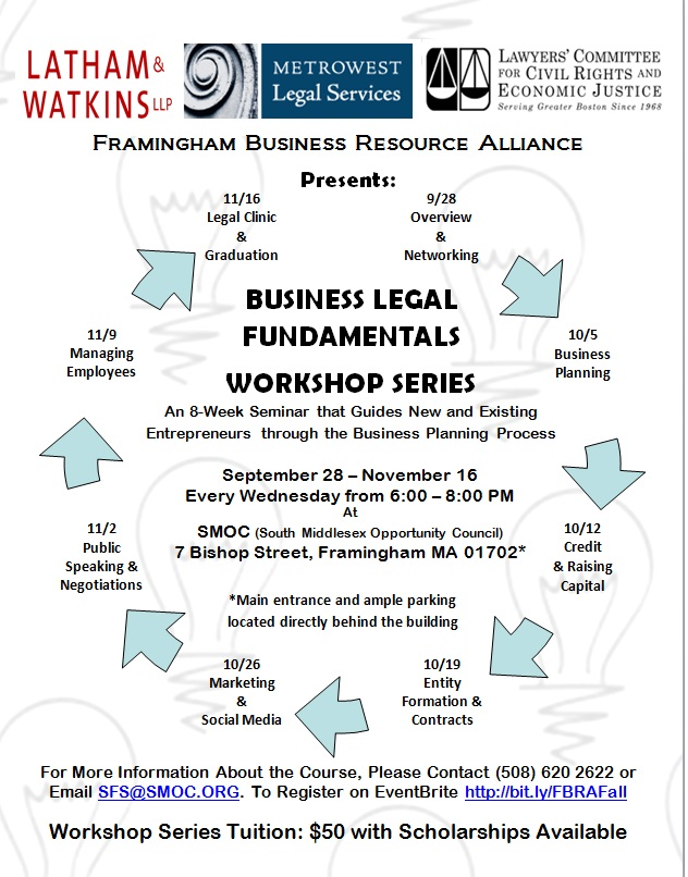 Business Legal Fundamentals Fall Workshop Series