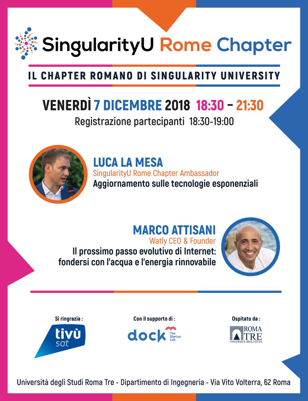 Locandina evento SingularityU Rome Chapter