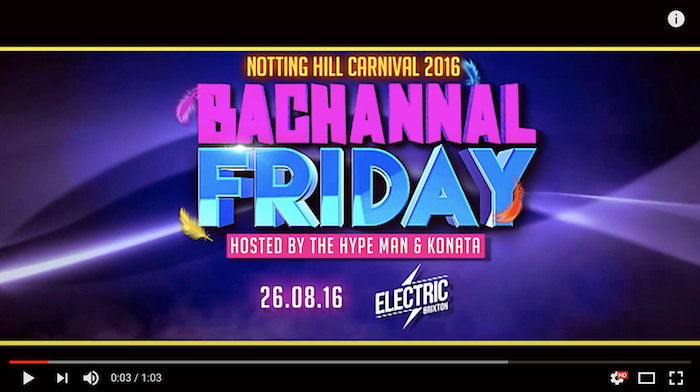 Bacchanal Friday 2016