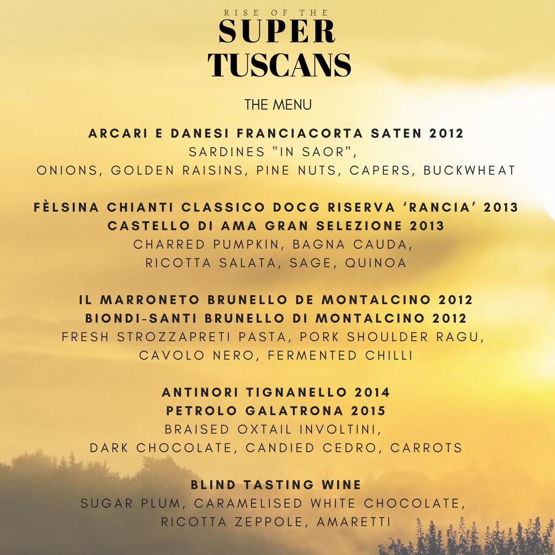 Sydney wine tasting, Elvino wine tasting, Italian wine tasting, Super Tuscan, Chianti, Tuscany, Brunello di Montalcino, Biondi Santi, Tignanello, Galatrona, Chianti Classico