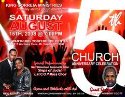 KING CORREIA MINISTRIES 5th Church Anniversary Celebration