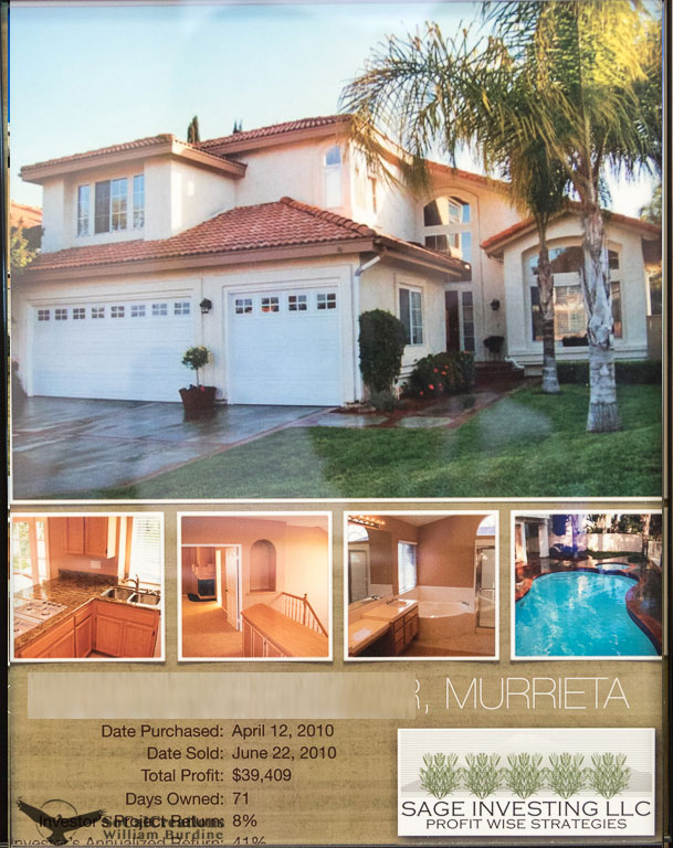 $39,409 Profit Murrieta