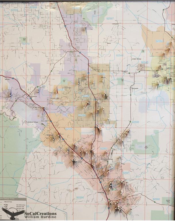 Map of Murrieta Property Fix and Flips