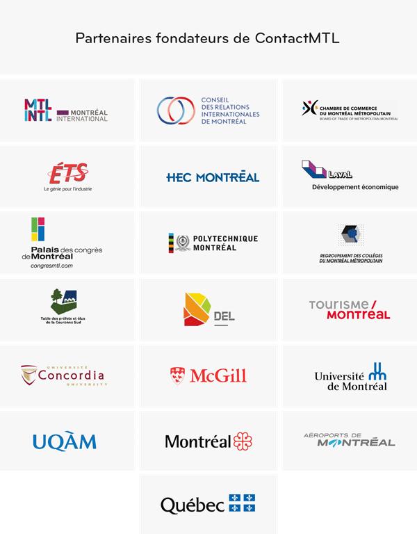Liste des partenaires fondateurs de ContactMTL