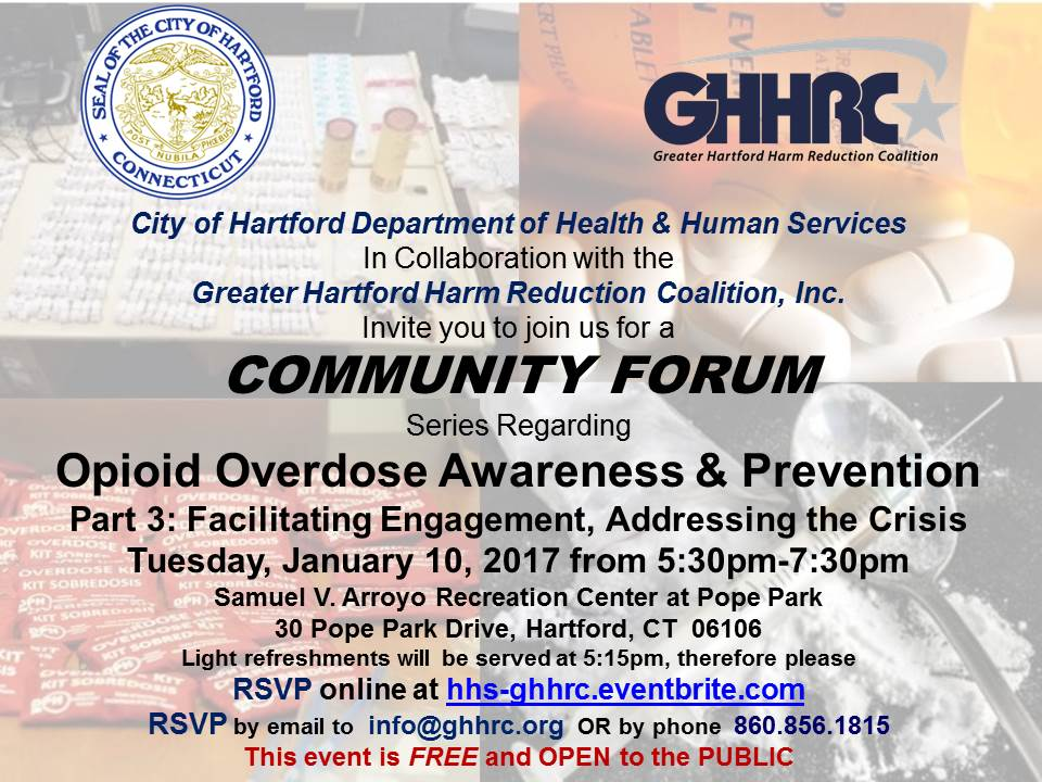 Community Forum Opioid Overdose Awareness & Prevention