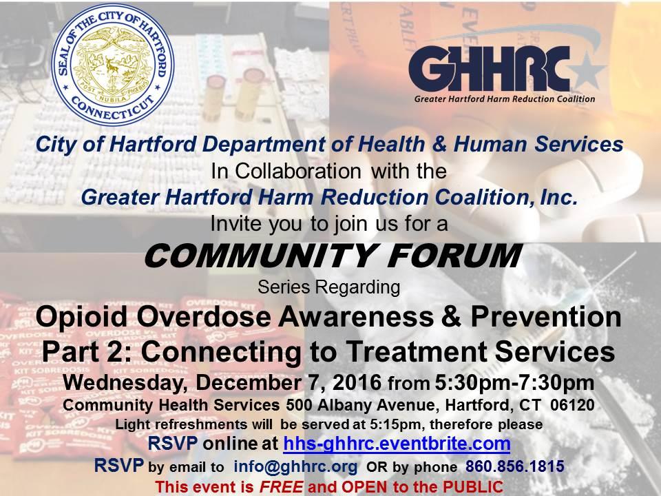 Community Forum Opioid Overdose Awareness & Prevention