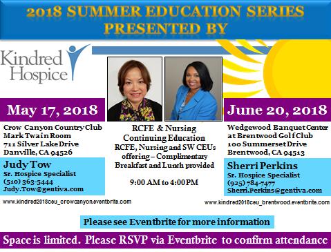 Summer Education Series 2018