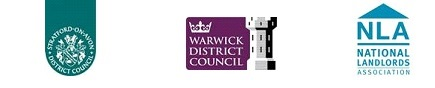 Warwick district Council Logo, Stratford District Council logo, National Landlords Association logo