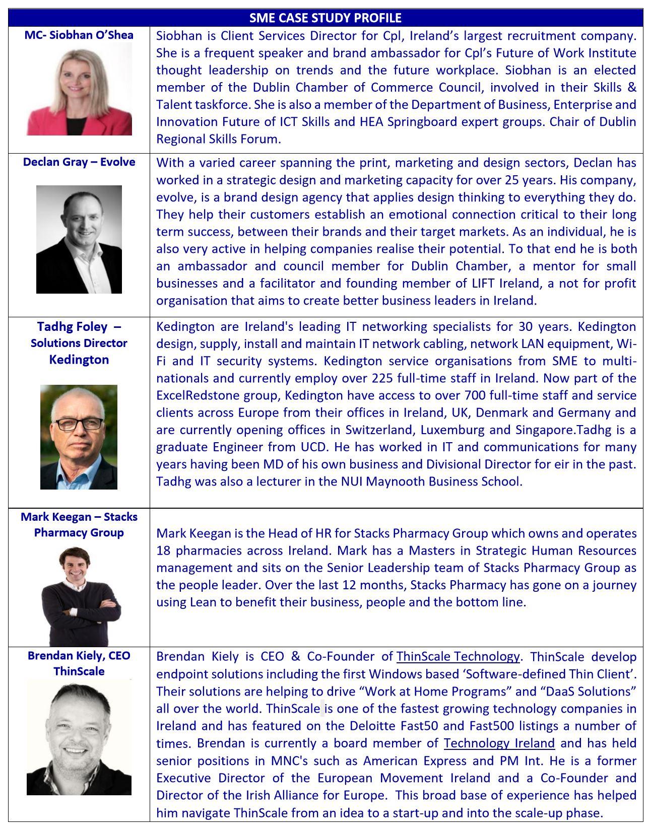Brochure Speaker Page