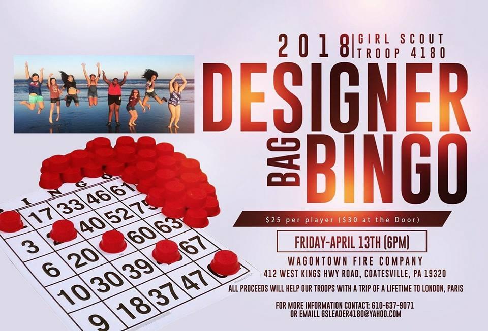 Girl Scout Troop 4180 - Designer Bag Bingo  sc 1 st  Eventbrite & Designer Bag Bingo Tickets Fri Apr 13 2018 at 6:00 PM | Eventbrite