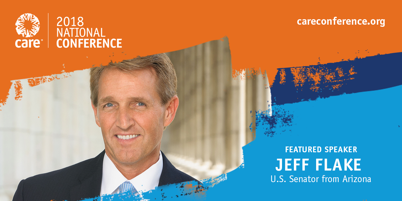 Jeff Flake #CAREcon careconference.org